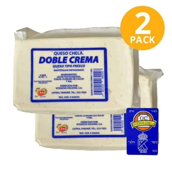 Queso Chela Doble Crema, Kosher 340 gr (Pack de 2)