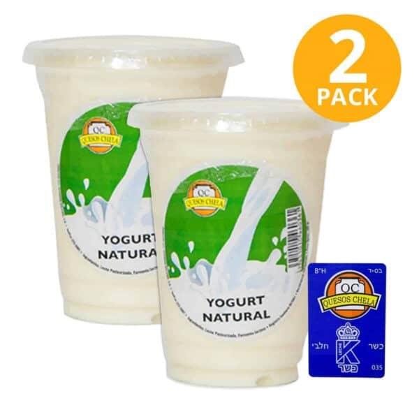 Yogurt Natural, Quesos Chela, Kosher 283 gr (Pack de 2)
