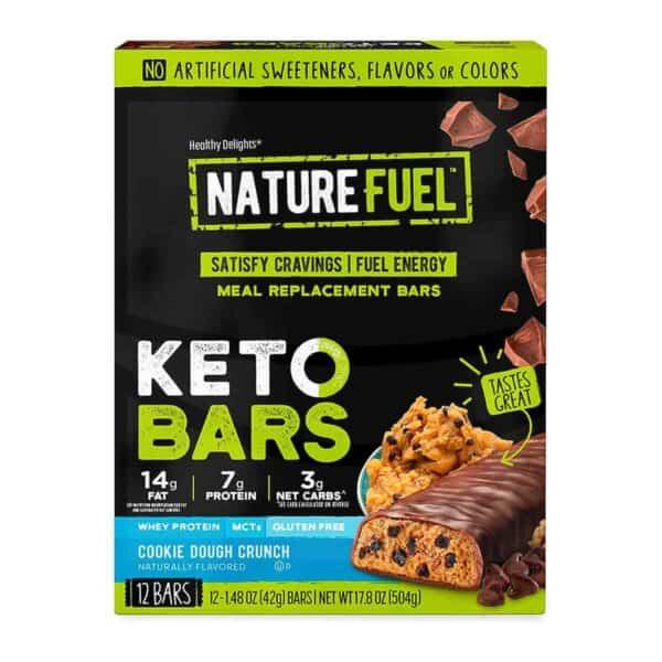 Nature Fuel Keto Bars, Cookie Dough Crunch, 42 gr (Pack de 12)