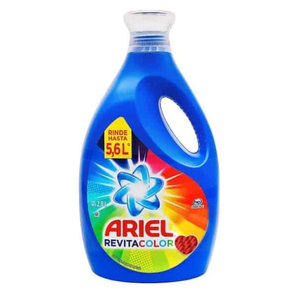 Ariel Revitacolor Detergente Líquido, 2.8 L