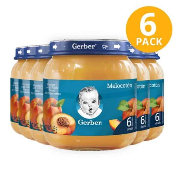 Gerber, Colado de Melocotón, 113 gr (Pack de 6)