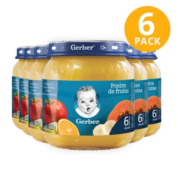 Gerber, Colado Postre de Frutas, 113 gr (Pack de 6)