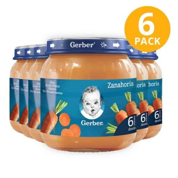 Gerber, Colado de Zanahoria, 113 gr (Pack de 6)