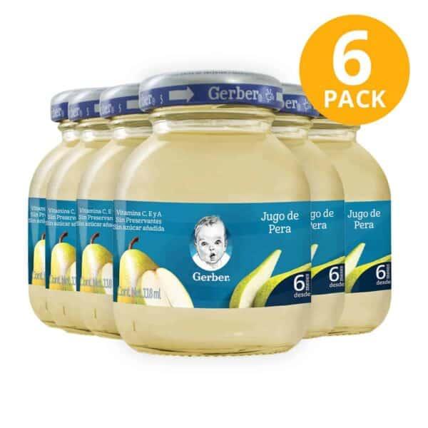 Gerber, Jugo de Pera, 118 ml (Pack de 6)
