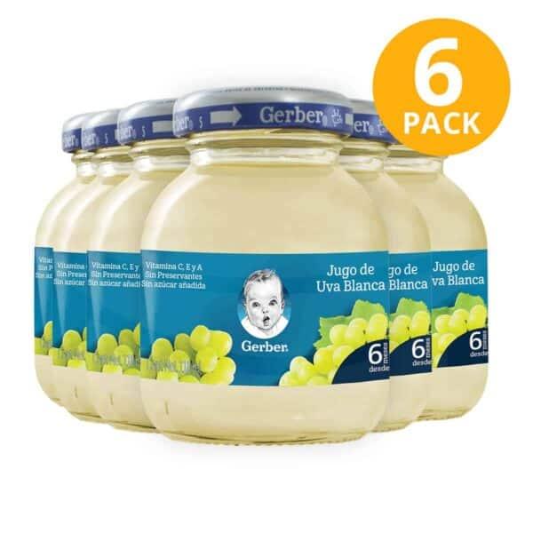 Gerber, Jugo de Uva, 118 ml (Pack de 6)