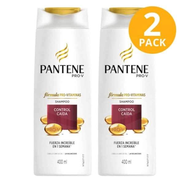 Pantene Pro-V Shampoo Control Caída, 400 ml (Pack de 2)