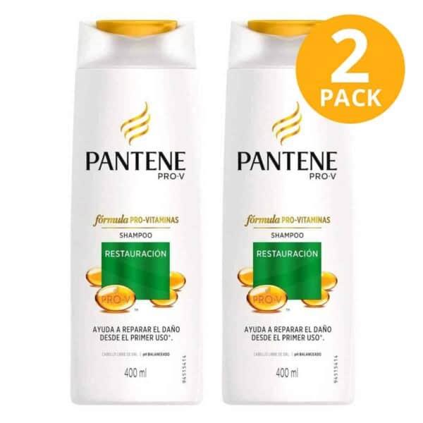 Pantene Pro-V Shampoo Restauración, 400 ml (Pack de 2)