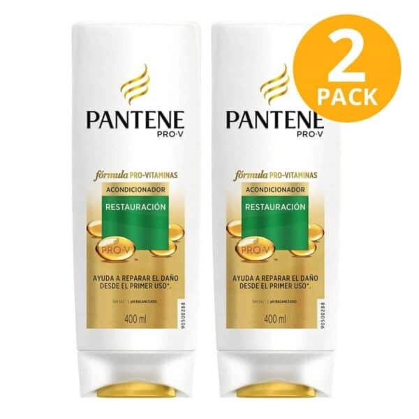 Pantene Pro-V Acondicionador Restauración, 400 ml (Pack de 2)