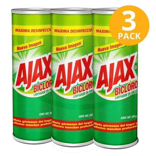 Ajax Bicloro, Limpiador en Polvo, 582 gr (Pack de 3)