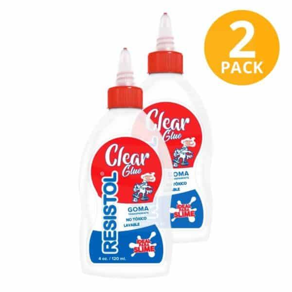 Resistol Clear Glue, Goma Transparente, 4 OZ (Pack de 2)