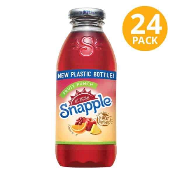 Snapple, Fruit Punch, 16 OZ (Pack de 24)
