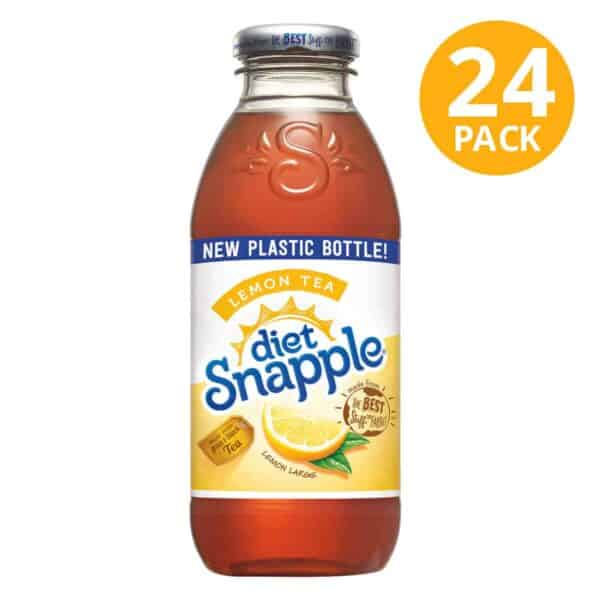 Snapple Diet, Lemon Tea, 16 OZ (Pack de 24)