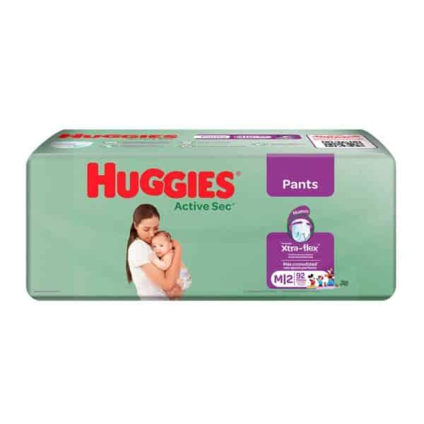 Huggies Active Sec, Pants M, 92 Pañales