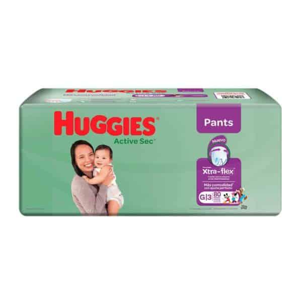 Huggies Active Sec Pants G, 80 Pañales