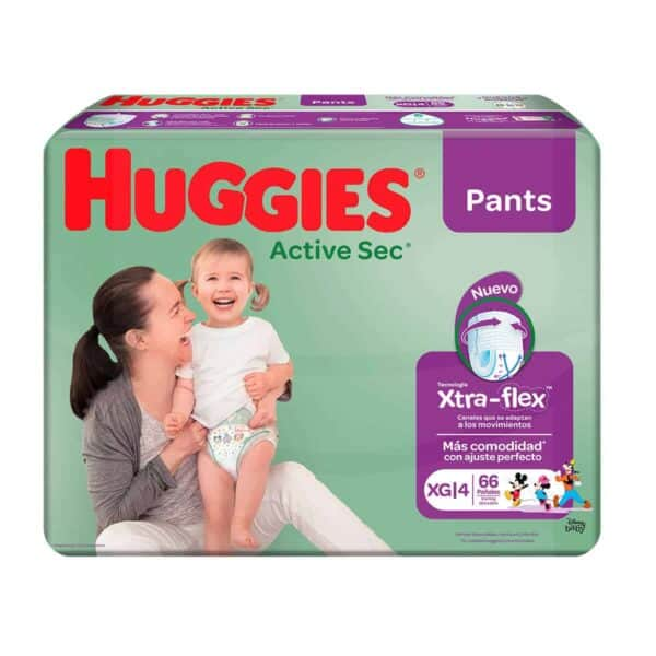 Huggies Active Sec Pants XG, 66 Pañales