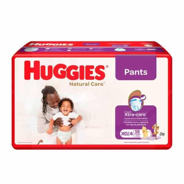 Huggies Natural Care Pants XG, 58 Pañales