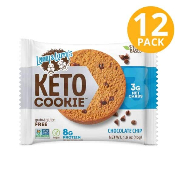 Lenny & Larry's Keto Cookie, Chocolate Chips, 1.6 OZ (Pack de 12)