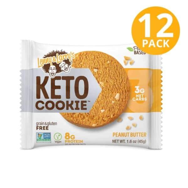 Lenny & Larry's Keto Cookie, Peanut Butter, 1.6 OZ (Pack de 12)
