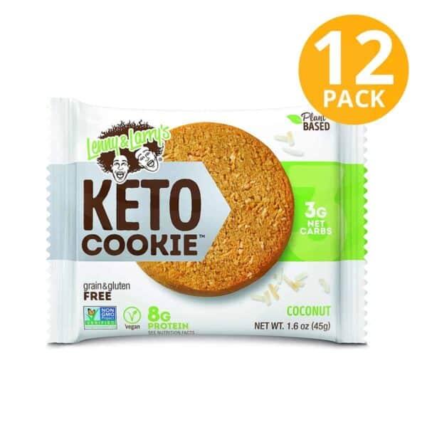 Lenny & Larry's Keto Cookie, Coconut, 1.6 OZ (Pack de 12)