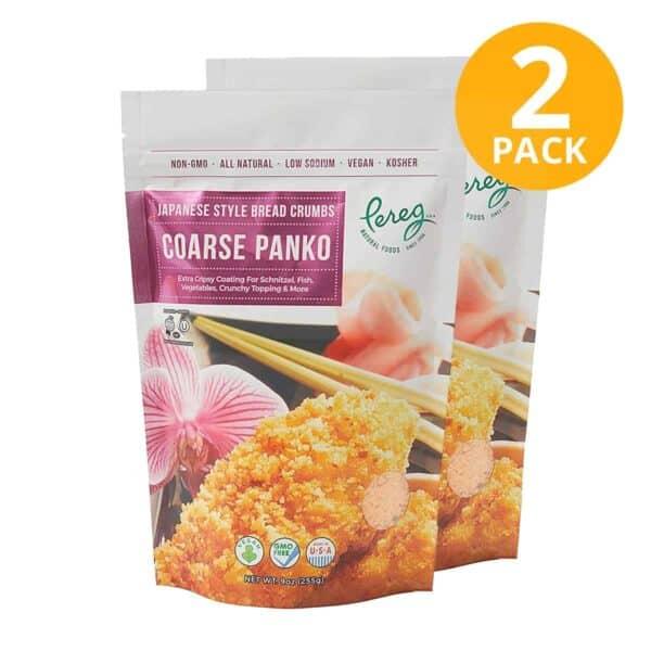 Pereg Panko Japanese Style Bread Crumbs Coarse, 9 OZ (Pack de 2)