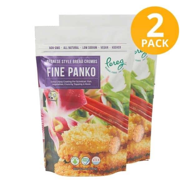 Pereg Panko Japanese Style Bread Crumbs Fine, 9 OZ (Pack de 2)