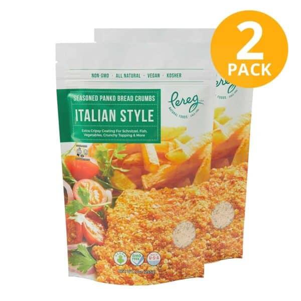 Pereg Panko Seasoned Bread Crumbs Italian Style, 9 OZ (Pack de 2)