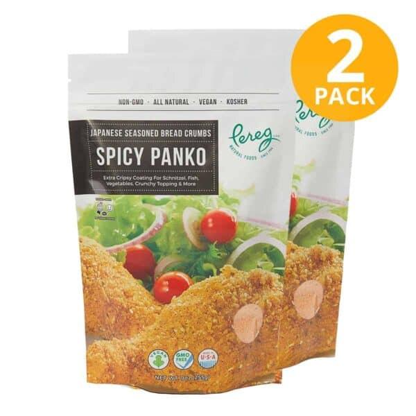 Pereg Panko Japanese Seasoned Bread Crumbs Spicy, 9 OZ (Pack de 2)