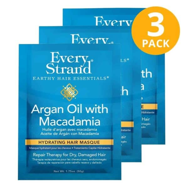 Every Strand, Hydrating Hair Masque, Argan Oil With Macadamia, 1.75 OZ (Pack de 3)