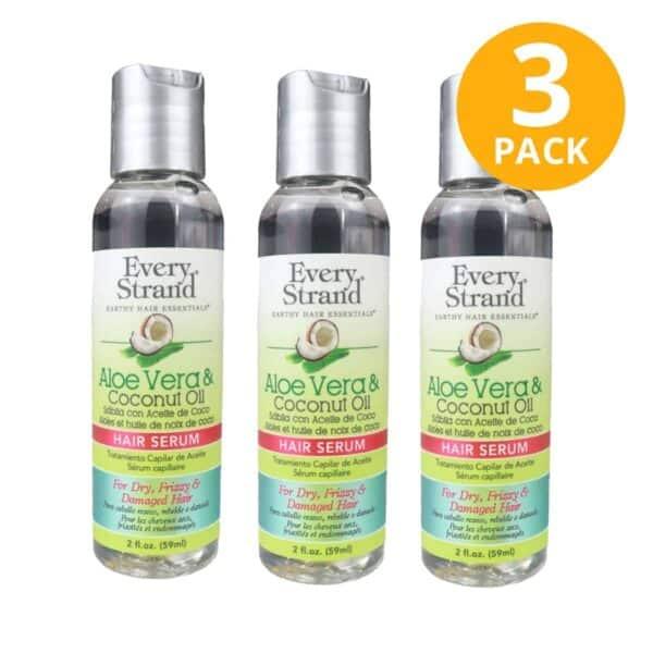 Every Strand, Hair Serum, Aloe Vera & Coconut Oil, 2 OZ (Pack de 3)