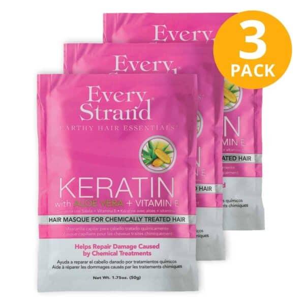 Every Strand,  Hair Masque, Keratin + Aloe Vera + Vitamin E, 1.75 OZ (Pack de 3)
