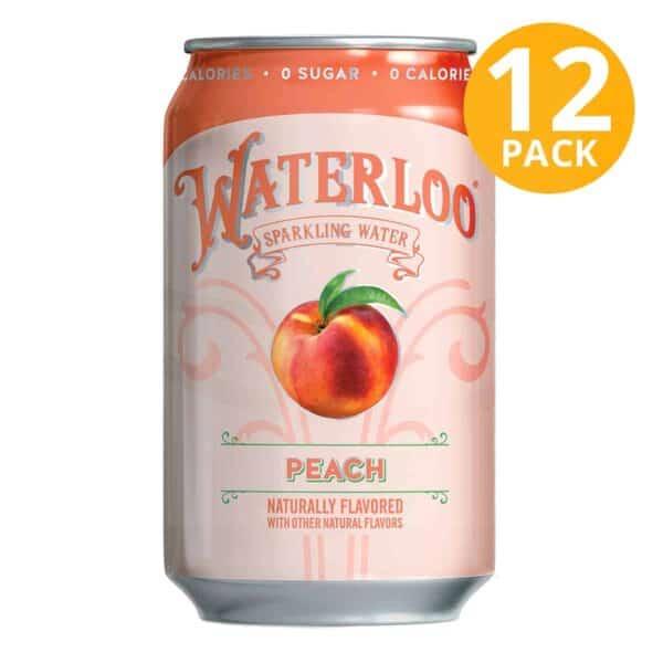 Waterloo Peach, 355 ml (Pack de 12)