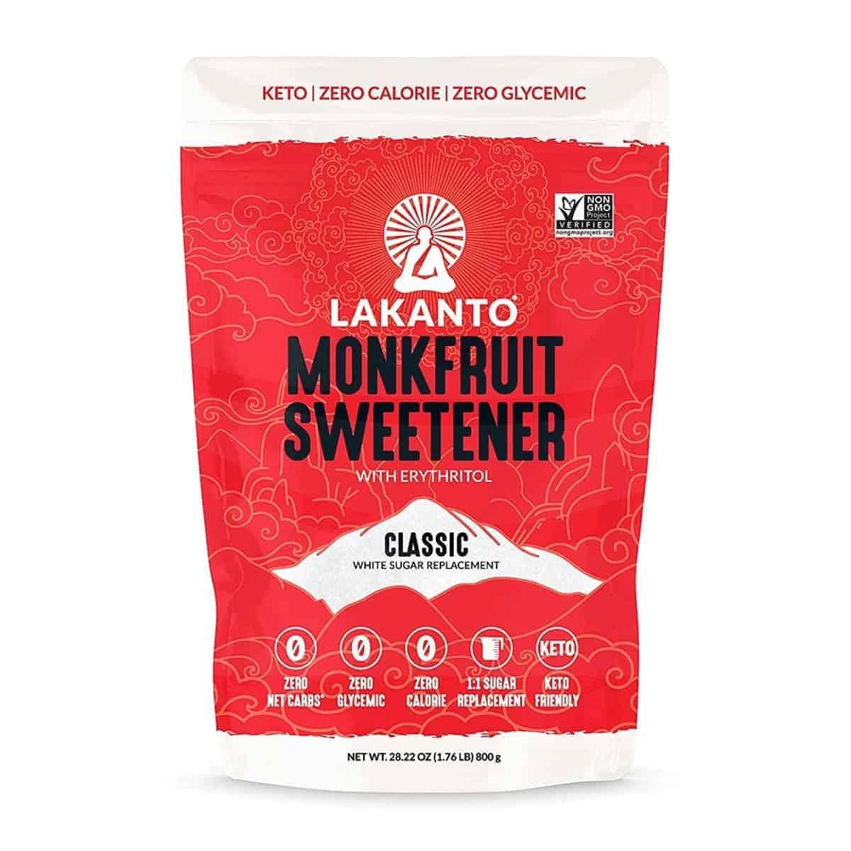 Lakanto, Monkfruit Sweetener Classic, 800 gr