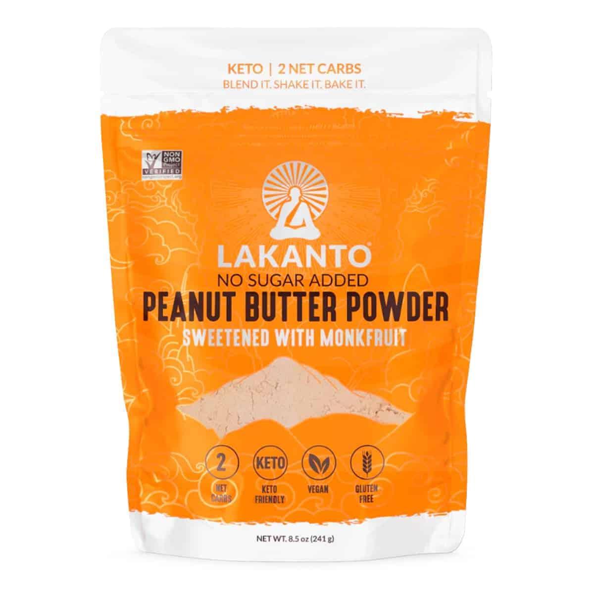 Lakanto, Peanut Butter Powder, No Sugar Added, 8.5 OZ