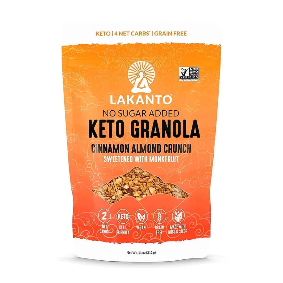 Lakanto, Granola Cinnamon Almond, No Sugar Added, 312 gr