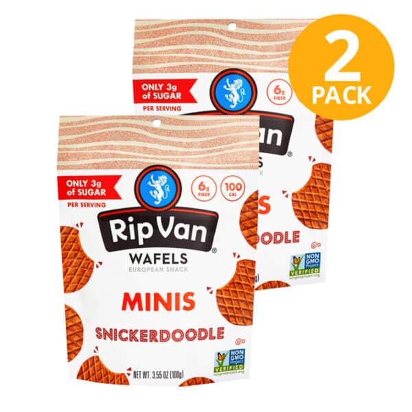 Rip Van Wafels Minis, Snickerdoodle, 3.55 OZ (Pack de 2)