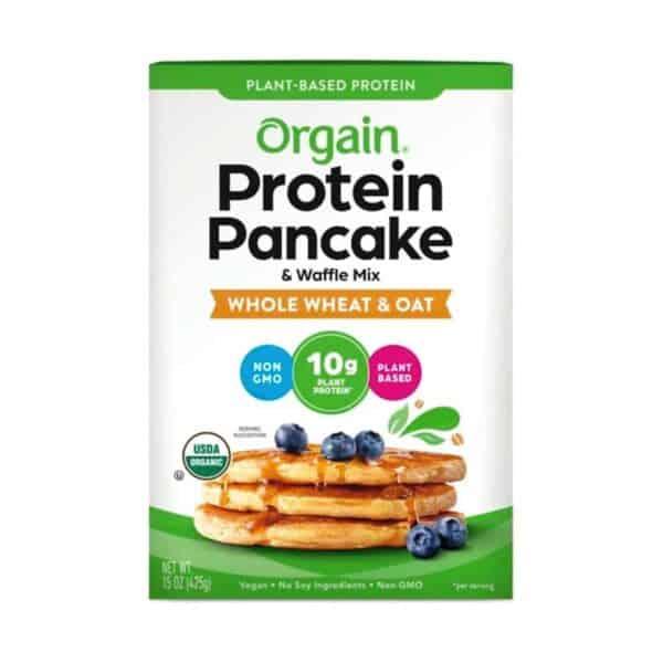 Organic Plant-Based Protein Pancake & Waffle Mix, Whole Wheat & Oat, 15 OZ