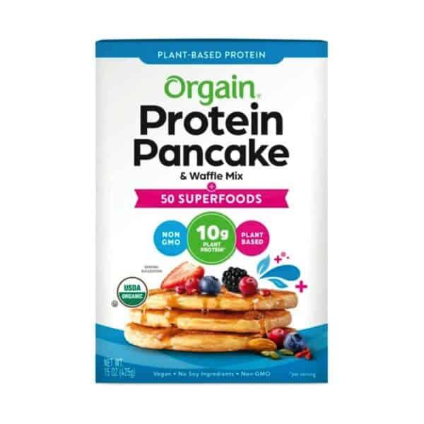 Organic Plant-Based Protein Pancake & Waffle Mix,  50 Superfoods, 15 OZ