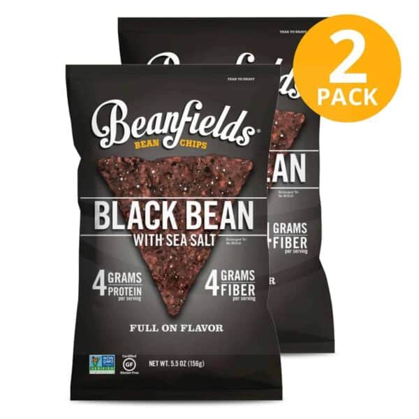 Beanfields, Black Bean with Sea Salt, 5.5 OZ (Pack de 2)
