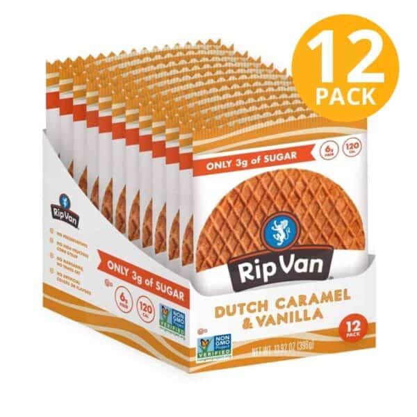 Rip Van Wafels, Dutch Caramel & Vanilla, Low Sugar, 1.16 OZ (Pack de 12)