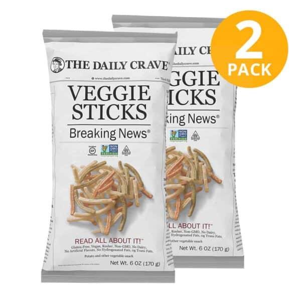 The Daily Crave, Veggie Sticks, 6 OZ (Pack de 2)