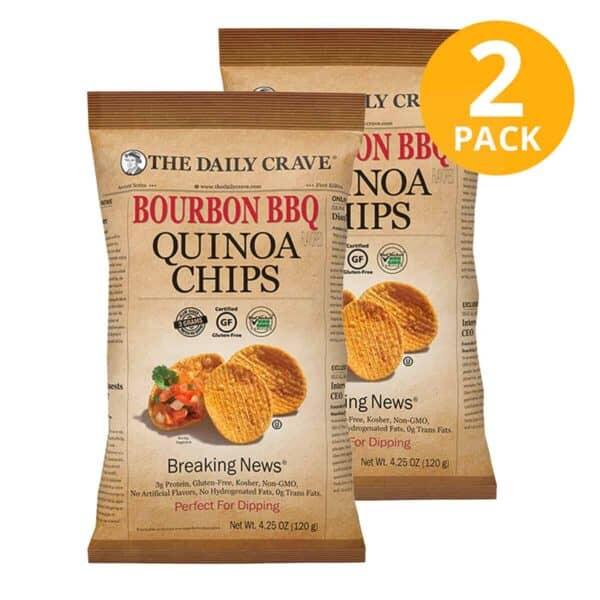 The Daily Crave, Bourbon BBQ Quinoa Chips, 4.25 OZ (Pack de 2)