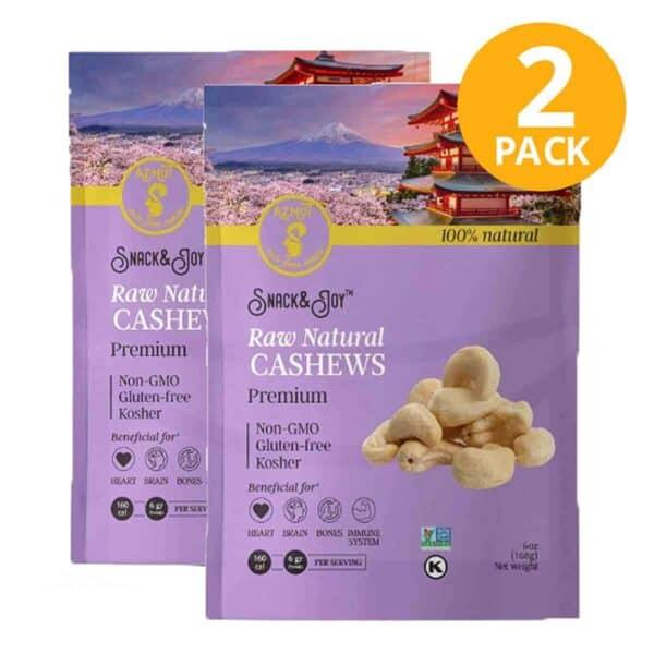 Pepita de Marañon Natural, Aznut Raw Cashews, 6 OZ (Pack de 2)