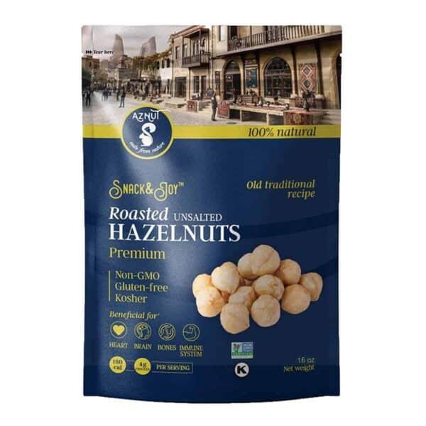 Avellanas Tostadas, Aznut Premium Roasted Hazelnuts Unsalted, 16 OZ
