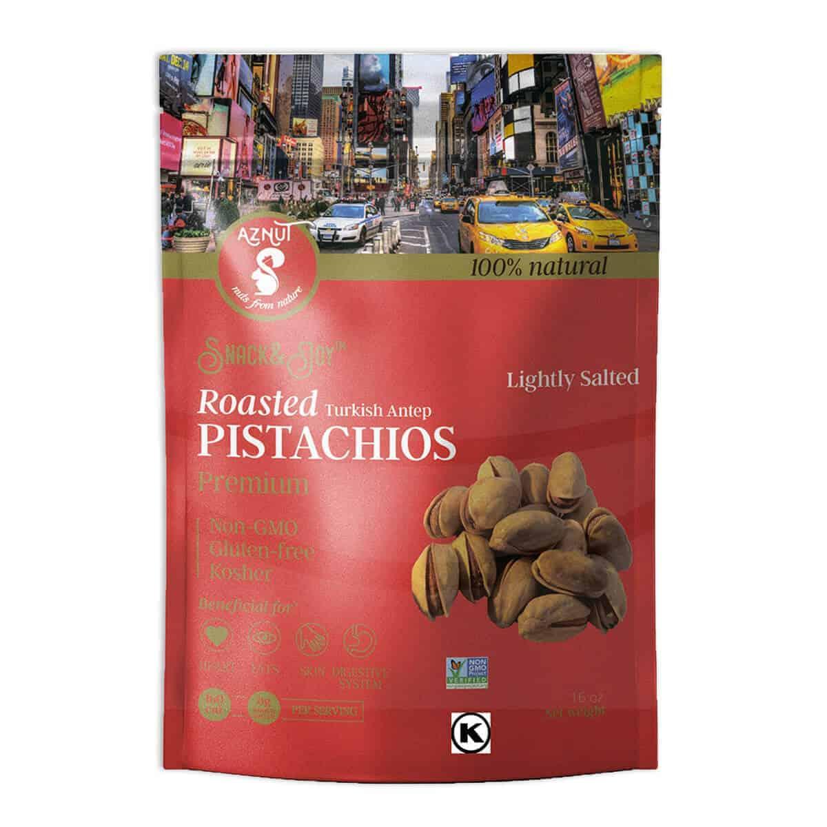 Pistachos Turcos Tostados, Aznut Roasted Salted Turkish Antep Pistachio, 16 OZ