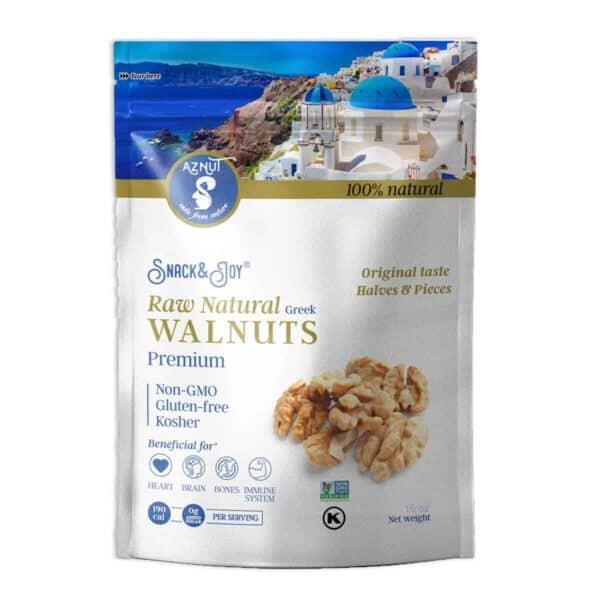Walnuts Naturales, Aznut Raw Walnuts, 16 OZ