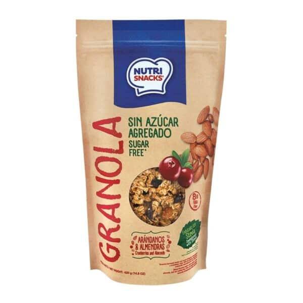 Nutrisnacks Granola Arándanos y Almendras, Sin Azúcar Agregado, 420 gr