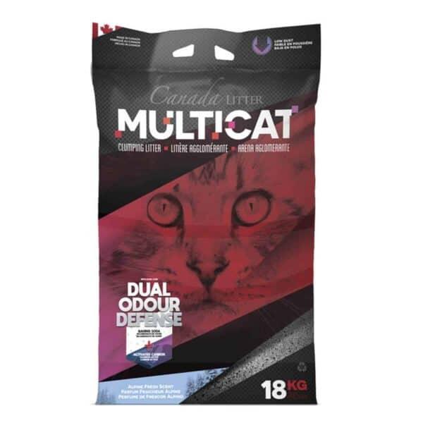 Arena Canada Litter Multicat Aglomerante, Clumping Cat Litter, Alpine Fresh Scent, 18 kg