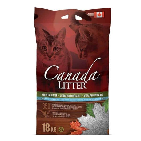 Arena Canada Litter Aglomerante, Clumping Cat Litter, Baby Powder Scent, 18 kg