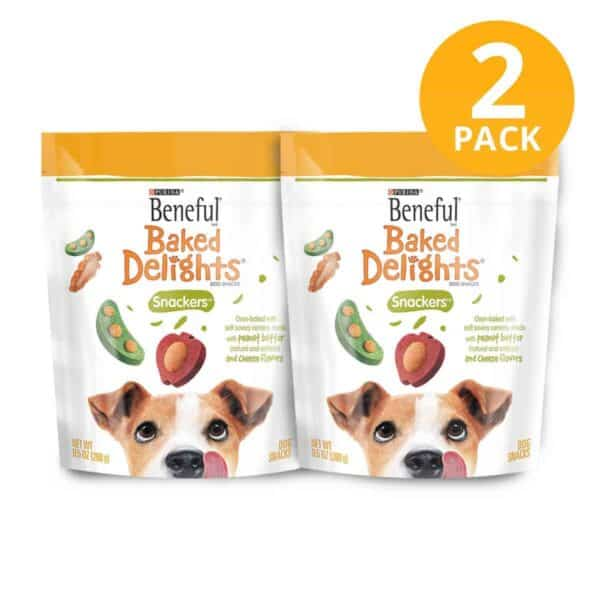 Purina Beneful Baked Delights Snackers, 9.5 OZ (Pack de 2)