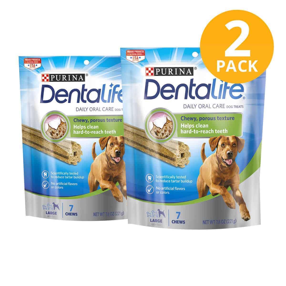 Purina DentaLife Daily Oral Care Large Dental Treat, 7.8 OZ (Pack de 2)